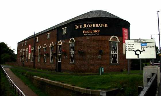 De oude Rosebank distilleerderij