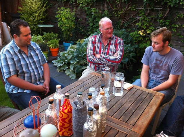 Ronald, Henk and me awaiting drams.