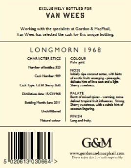 Longmorn 1968 - Gordon & MacPhail Reserve