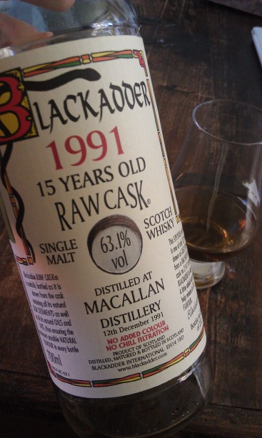 Macallan 15, Blackadder Raw Cask