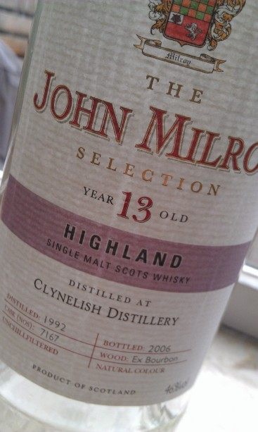 Clynelish 13, The John Milroy Selection