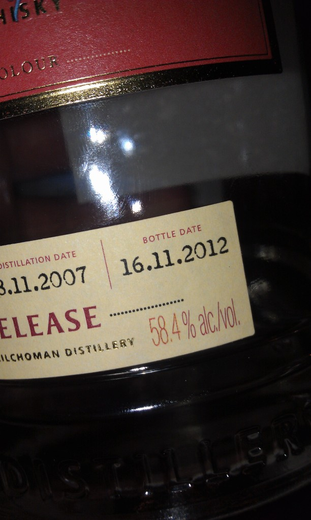 Kilchoman bottled on my birthday