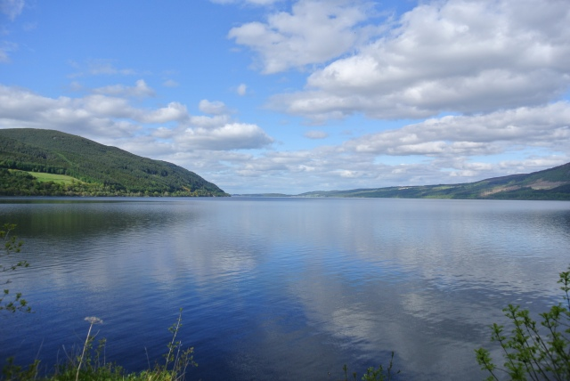 We had stunning weather at Loch Ness