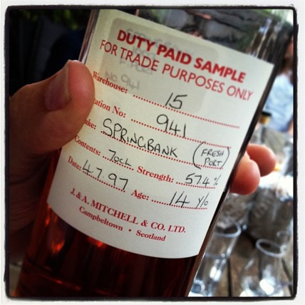 The one of one Springbank. Picture by Fulco