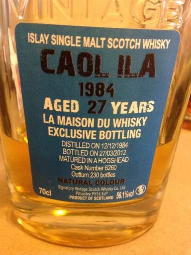 Caol Ila 27 by Signatory