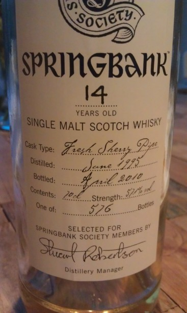 A close up of the label