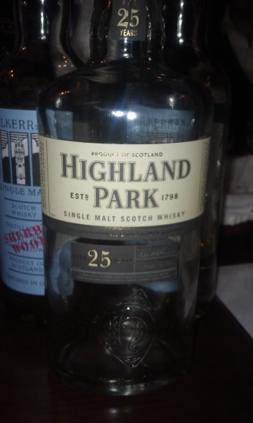 Highland Park 25 in it's near empty glory