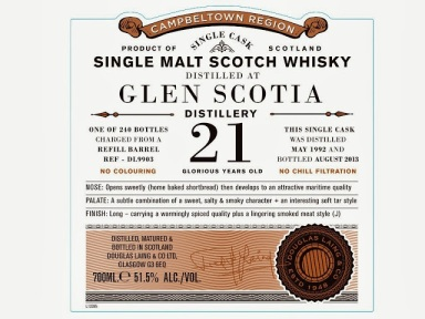 Glen Scotia 21 by Douglas Laing's Old Particular