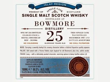 Bowmore 25, if you're into Parma Violets...