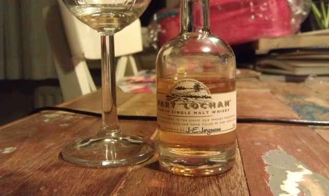 Tasting the Fary Lochan. Not bad at all!