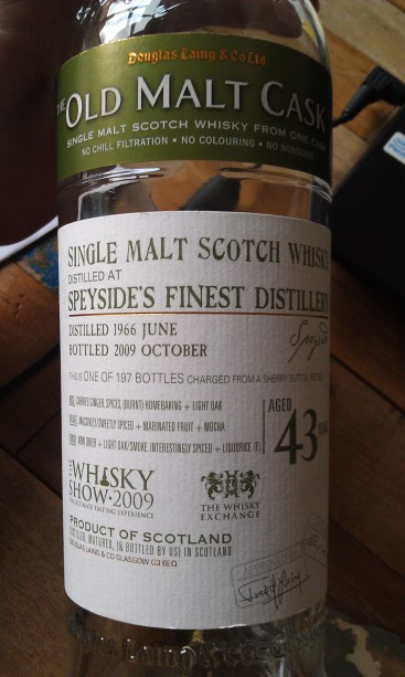 Speyside's Finest from 1966. Absolutely stunning.