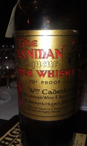 Cadenhead's The Hielanman. Still in proof and fluid ounces