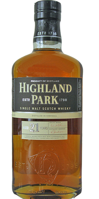Highland Park 21. 47.5%. Image from Whiskybase