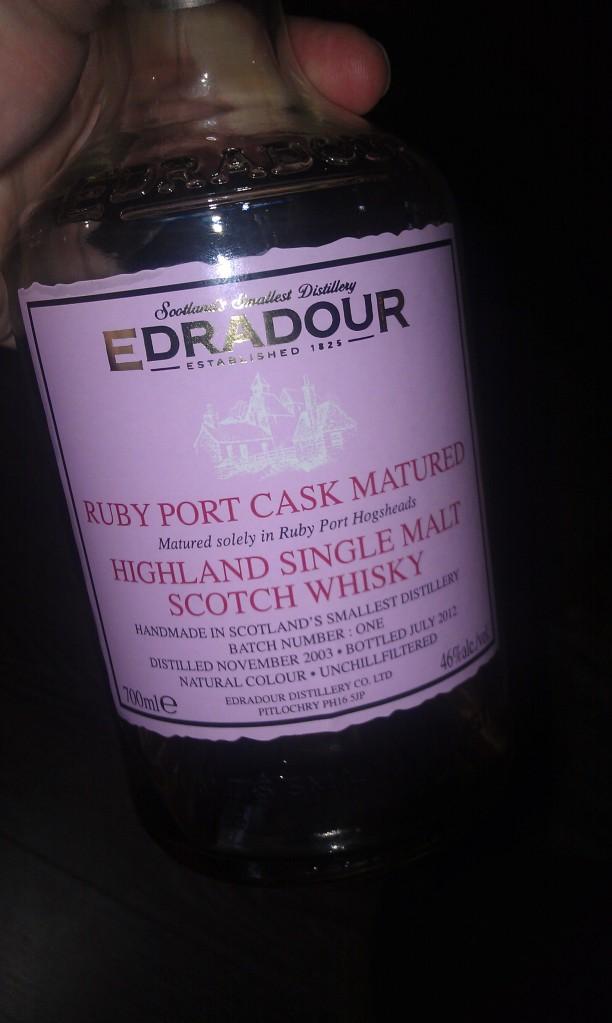 Edradour Port Wood. No.
