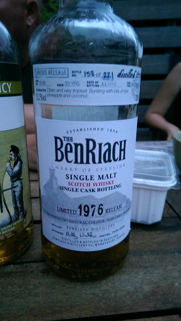 BenRiach 1976. Can't go wrong there.