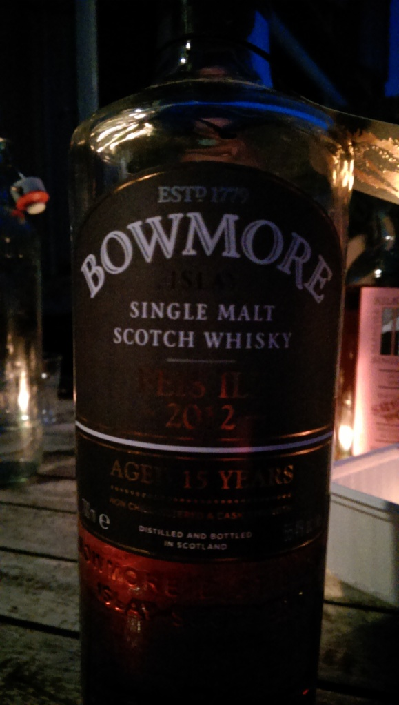 Bowmore Feis Ile. This was a rather lovely one. Better than last year's bourbon cask.