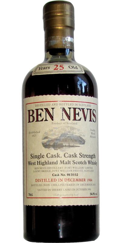 Ben Nevis 25yo, 1984