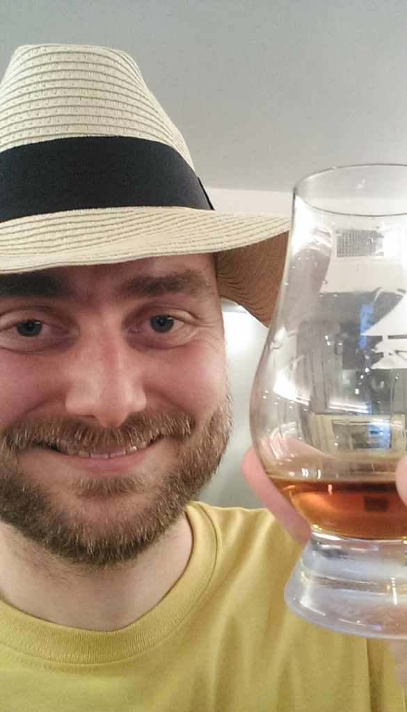 Me being an idiot. Drinking the Don Abuelo Centuria. A really great rum. Depth, character, sweetness, spicy. This year we were in time for the hat.