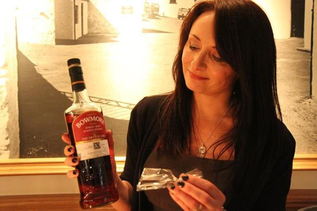 Rachel Barrie and the epic Bowmore.