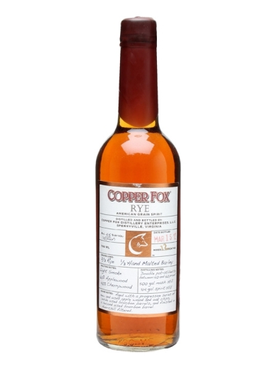 Wasmund's Copper Fox Rye Whiskey