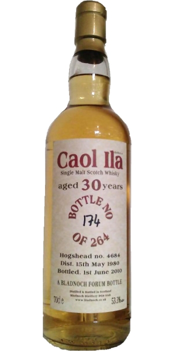 Caol Ila 30. Image from Whiskybase