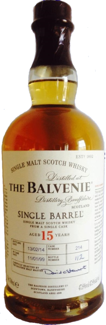 Balvenie 15 Single Barrel. Image from Whiskybase