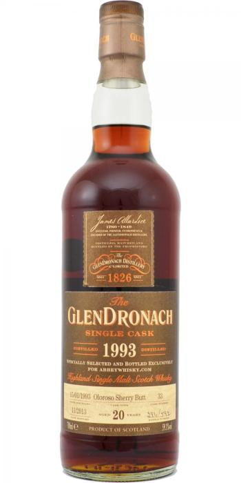 GlenDronach 1993 for Abbey Whisky. Image from Whiskybase