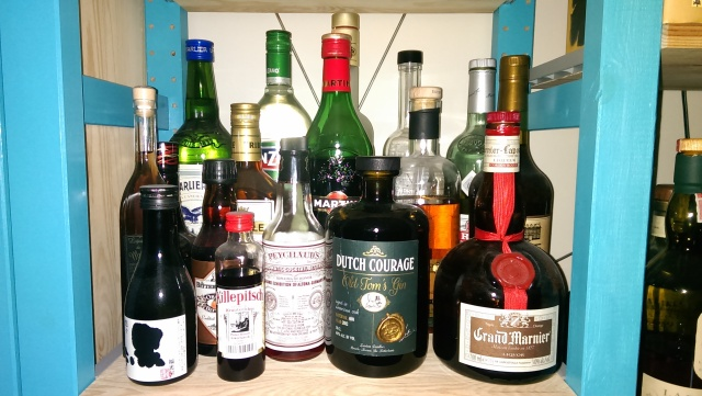 Random booze. Quite some untouched and bought without much consideration