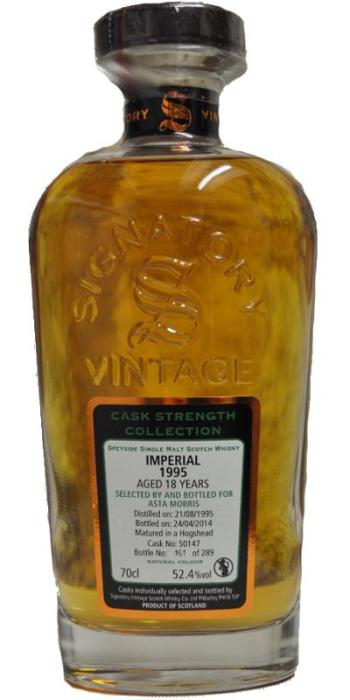 Imperial 18 for Asta Morris. Image from Whiskybase