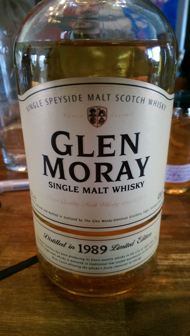 An old vintage Glen Moray that was considered a good starter. Should have put this first