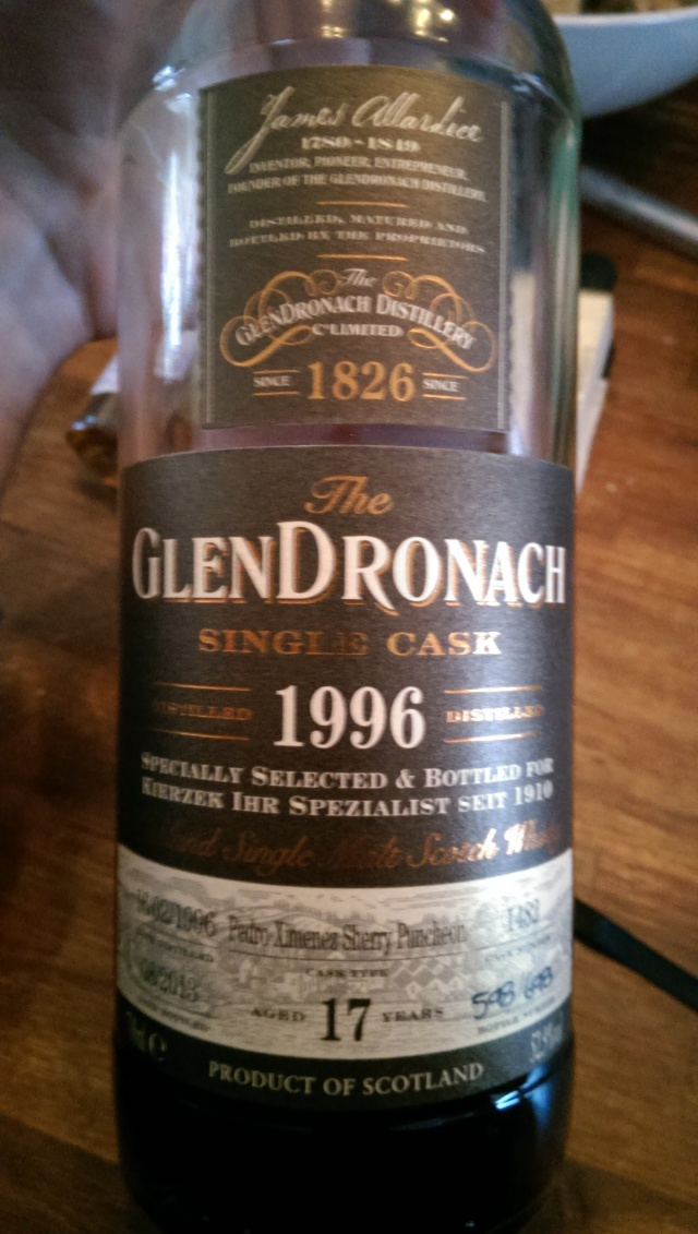 A very great GlenDronach. Fierce, and far from over-sherried. Greatness.