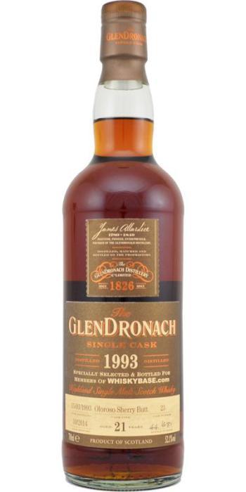 GlenDronach 21 for Whiskybase. Image from Whiskybase