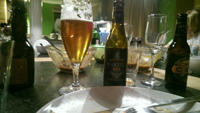 Quite some beers during dinner