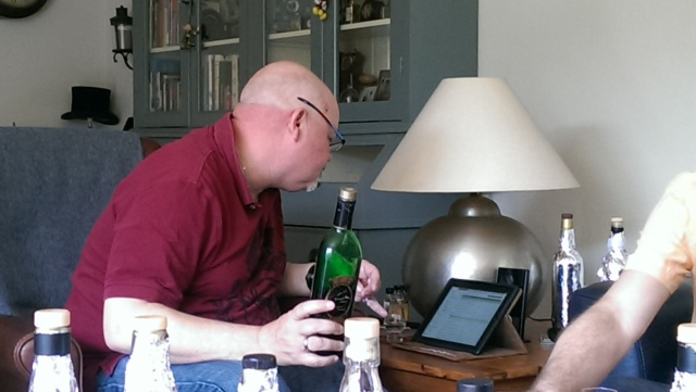 Tom searching for the Whiskybase rating and price. Nobody knew why...