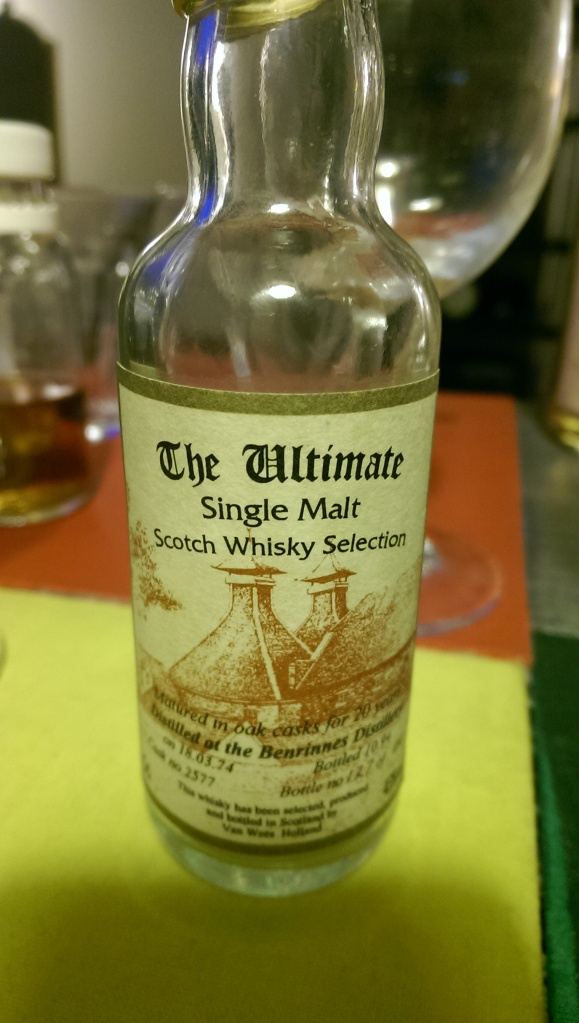 An Ultimate Benrinnes. Tasty, but a little thin.