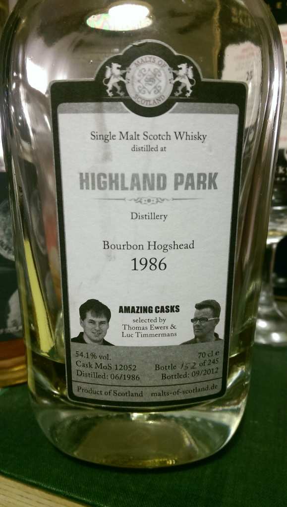 A very farmy Highland Park. I wish I had a bottle of this!