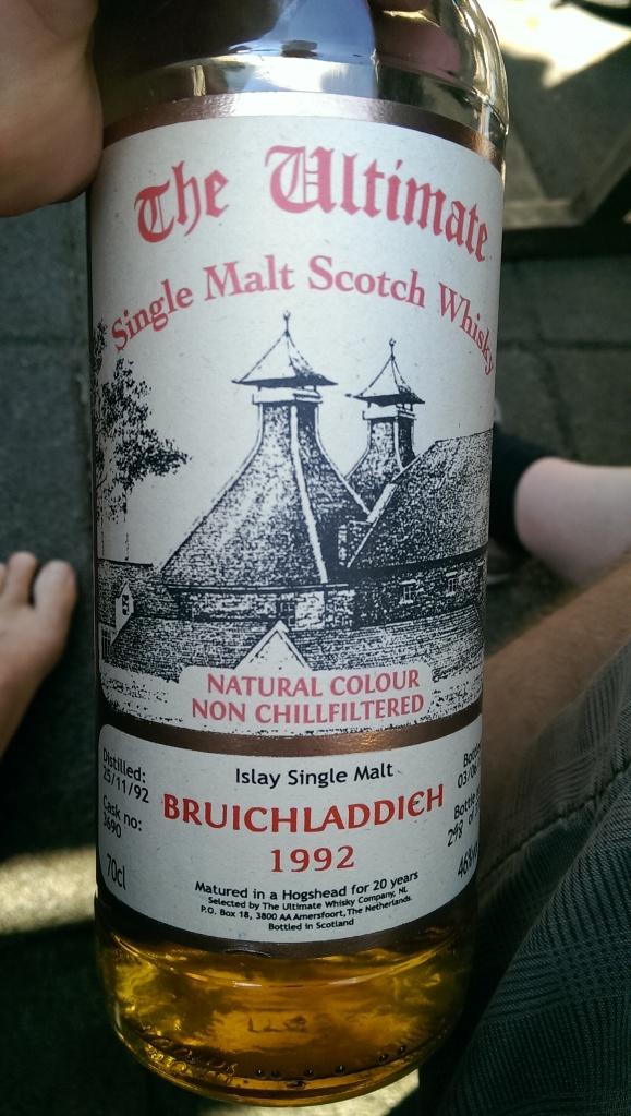 A surprise Bruichladdich, quite tasty.