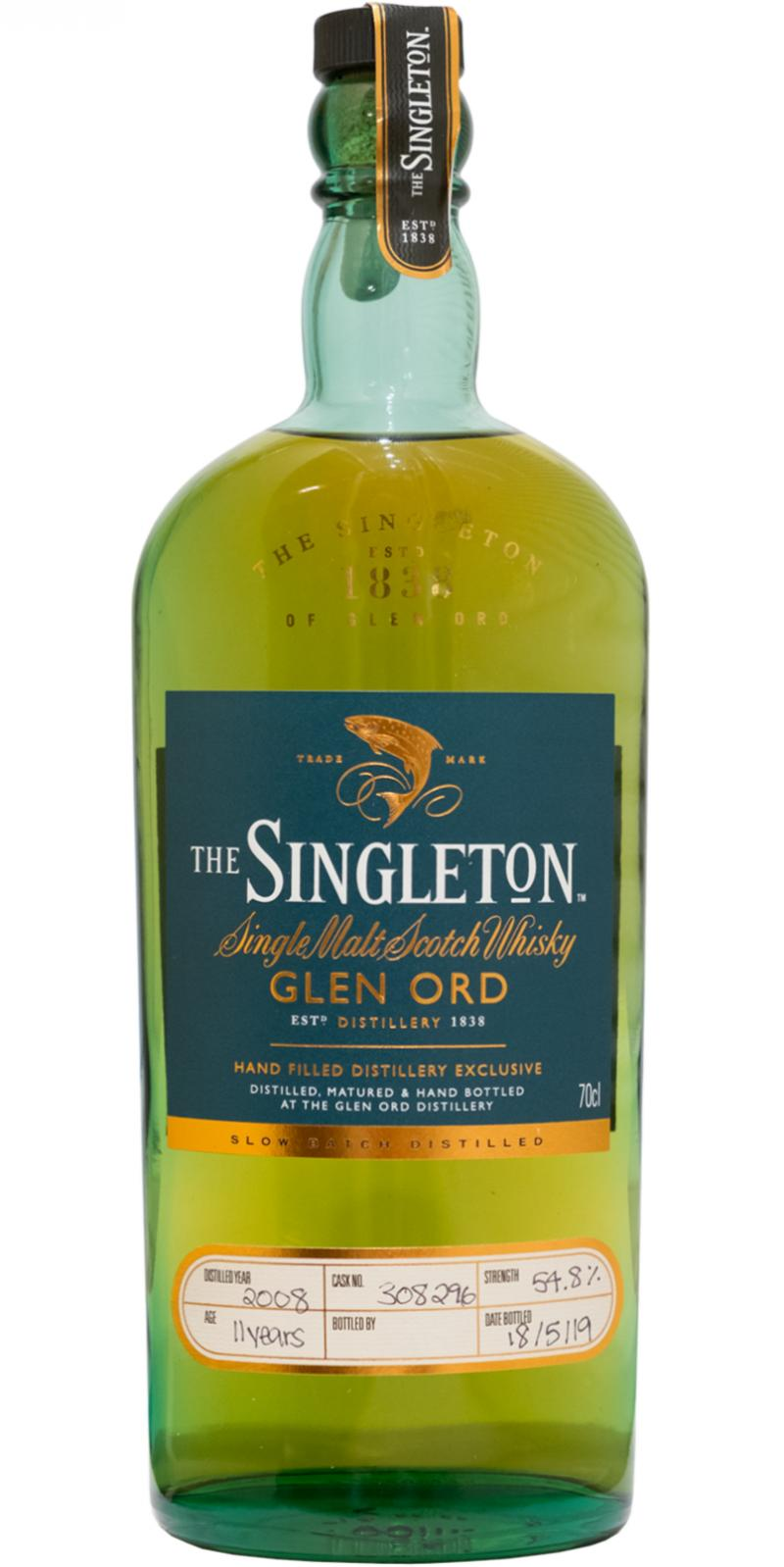The Singleton of Glen Ord 11yo, 2008-2019, 54.8% – Distillery Only / Highland Whisky Festival